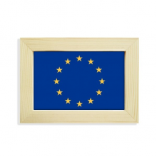 EU National Flag Europe Country Desktop Decorate Photo Frame Picture Art Painting 5x7 inch