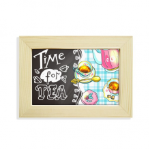 Time for tea Cupcake Teaport France Desktop Decorate Photo Frame Picture Art Painting 5x7 inch