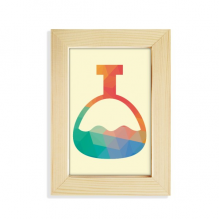 Cartoon Cone Bottle Chemistry Pattern Desktop Display Photo Frame Picture Art Painting 5x7 inch
