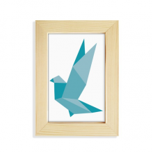Origami Abstract Grenn Pigeon Pattern Desktop Display Photo Frame Picture Art Painting 5x7 inch
