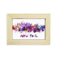 New York America City Watercolor Desktop Decorate Photo Frame Picture Art Painting 5x7 inch