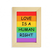 Gay Lesbian Rainbow Flag LGBT Desktop Display Photo Frame Picture Art Painting 5x7 inch