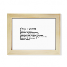 Famous Poetry Quote Believe In Yourself Desktop Wooden Photo Frame Picture Art Painting 6x8 inch