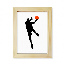 Sports Jumping Basketball Player Desktop Wooden Photo Frame Picture Art Painting 6x8 inch