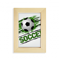 Green Soccer Football Sports Desktop Wooden Photo Frame Picture Art Painting 5x7 inch