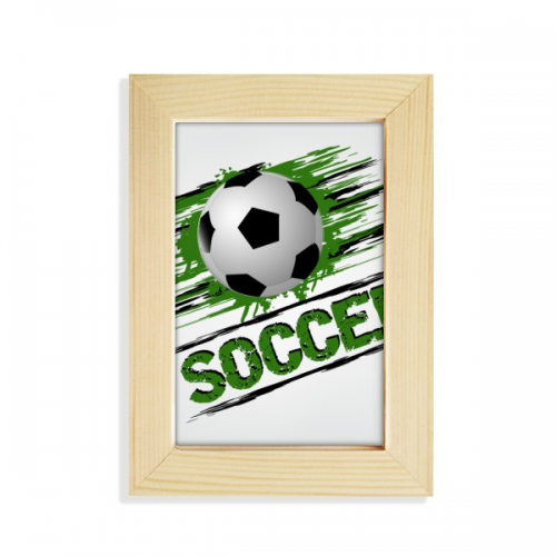 Green Soccer Football Sports Desktop Display Photo Frame Picture Art Painting 5x7 inch