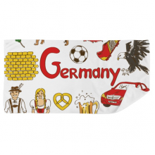 Germany Landscap Animals National Flag Bath Towel Soft Washcloth Facecloth 35x70cm