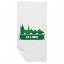 Prague Czech Republic Green Landmark Bath Towel Soft Washcloth Facecloth 35x70cm