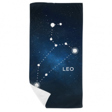 Leo Constellation Zodiac Sign Bath Towel Soft Washcloth Facecloth 35x70cm
