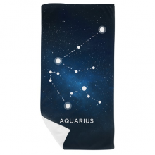 Aquarius Constellation Zodiac Sign Bath Towel Soft Washcloth Facecloth 35x70cm