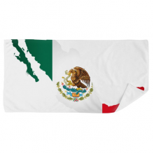 Red Green Mexico Map Emblem Eagle Eat Snake Bath Towel Soft Washcloth Facecloth 35x70cm
