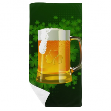 Beer Ireland St.Patrick's Day Bath Towel Soft Washcloth Facecloth 35x70cm