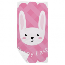 Happy Easter Festival Bunny Pattern Bath Towel Soft Washcloth Facecloth 35x70cm