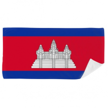 CambodiaNational Flag Asia Country Bath Towel Soft Washcloth Facecloth 35x70cm