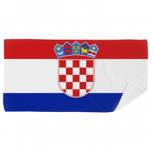 Croatia National Flag Europe Country Bath Towel Soft Washcloth Facecloth 35x70cm