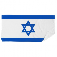 Israel National Flag Asia Country Bath Towel Soft Washcloth Facecloth 35x70cm