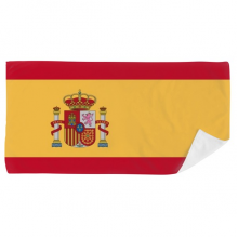 Spain National Flag Europe Country Bath Towel Soft Washcloth Facecloth 35x70cm