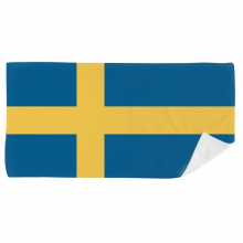 Sweden National Flag Europe Country Bath Towel Soft Washcloth Facecloth 35x70cm
