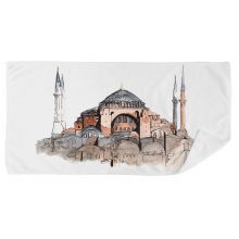 Turkey Hagia Sophia Istanbul Bath Towel Soft Washcloth Facecloth 35x70cm