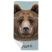 Giant Wild Brown Bear Animal Bath Towel Soft Washcloth Facecloth 35x70cm