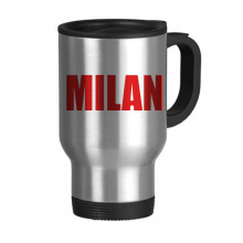 Milan Italy City Red Travel Mug Stainless Steel Beer Mugs Handles 13oz