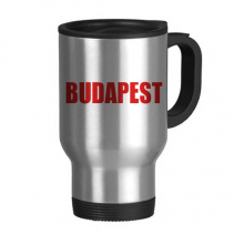 Budapest Hungary City Red Travel Mug Stainless Steel Beer Mugs Handles 13oz