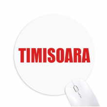 Timisoara Romania City Red Mousepad Round Rubber Mouse Pad Non-Slip Game Office