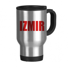 Izmir Turkey City Red Travel Mug Stainless Steel Beer Mugs Handles 13oz