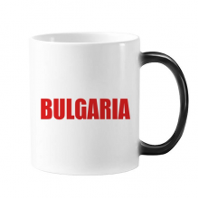 Bulgaria Country Name Red Mug Changing Color Cup Morphing Heat Sensitive 350ml