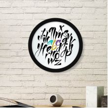 A To Z Alphabets Quote Style Round Frame Art Painting Wooden Home Wall Decor