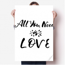 All You Need Is Love Sun Quote Sticker Poster Decal 31x22