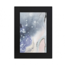 Abstract Shading Ink Watercolor Desktop Photo Frame Picture Black Art Painting 5x7 inch