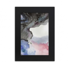Abstract Watercolor Ink Shading Desktop Photo Frame Picture Black Art Painting 5x7 inch