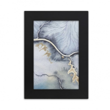 Ink Shading Watercolor Abstract Desktop Photo Frame Picture Black Art Painting 5x7 inch