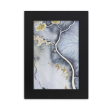Shading Ink Watercolor Abstract Desktop Photo Frame Picture Black Art Painting 5x7 inch
