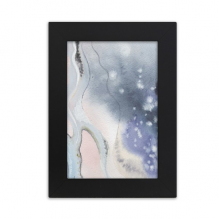 Ink Watercolor Shading Abstract Desktop Photo Frame Picture Black Art Painting 5x7 inch