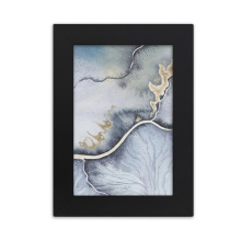 Ink Abstract Watercolor Shading Desktop Photo Frame Picture Black Art Painting 5x7 inch