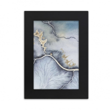 Ink Abstract Shading Watercolor Desktop Photo Frame Picture Black Art Painting 5x7 inch