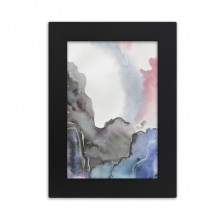 Watercolor Ink Abstract Shading Desktop Photo Frame Picture Black Art Painting 5x7 inch