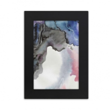 Ink Watercolor Abstract Shading Desktop Photo Frame Picture Black Art Painting 5x7 inch