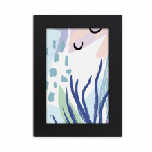 Plant Sea Abstract Plants Art Pattern Desktop Photo Frame Picture Black Art Painting 5x7 inch