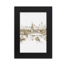 River Bridge Landmark Sketch Desktop Photo Frame Picture Display Art Painting Exhibit