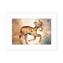 March April Aries Constellation Zodiac Desktop Photo Frame White Picture Art Painting 5x7 inch