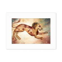 July August Leo Constellation Zodiac Desktop Photo Frame White Picture Art Painting 5x7 inch