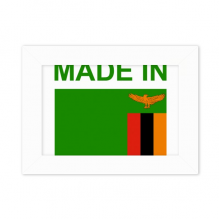 Made In Zambia Country Love Desktop Photo Frame White Picture Art Painting 5x7 inch
