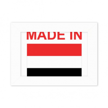 Made In Yemen Country Love Desktop Photo Frame White Picture Art Painting 5x7 inch
