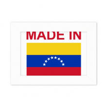 Made In Venezuela Country Love Desktop Photo Frame White Picture Art Painting 5x7 inch