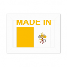 Made In Vatican City Country Love Desktop Photo Frame White Picture Art Painting 5x7 inch
