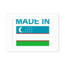 Made In Uzbekistan Country Love Desktop Photo Frame White Picture Art Painting 5x7 inch
