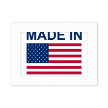Made In United States Country Love Desktop Photo Frame White Picture Art Painting 5x7 inch